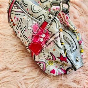 Poppy Coach Butterfly Pink, Silver & White Bag!